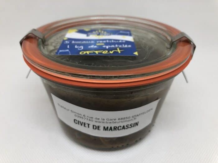 Civet de marcassin